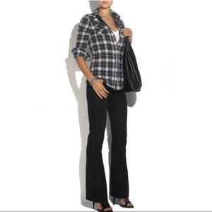Elizabeth and James Plaid Button Back Cohen Shirt
